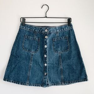 Urban Outfitters BDG Denim Button-Front Skirt Sz M